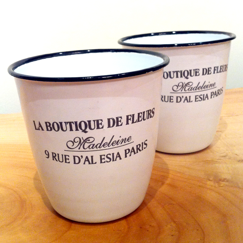 la boutique de fleurs enamel pot on storenvy
