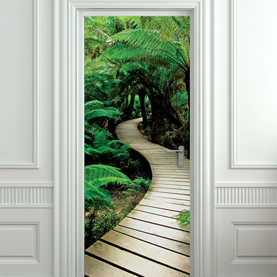 Door sticker palm tree path mural decole film self adhesive poster 30x7977x200 cm · pulaton · online store powered by storenvy