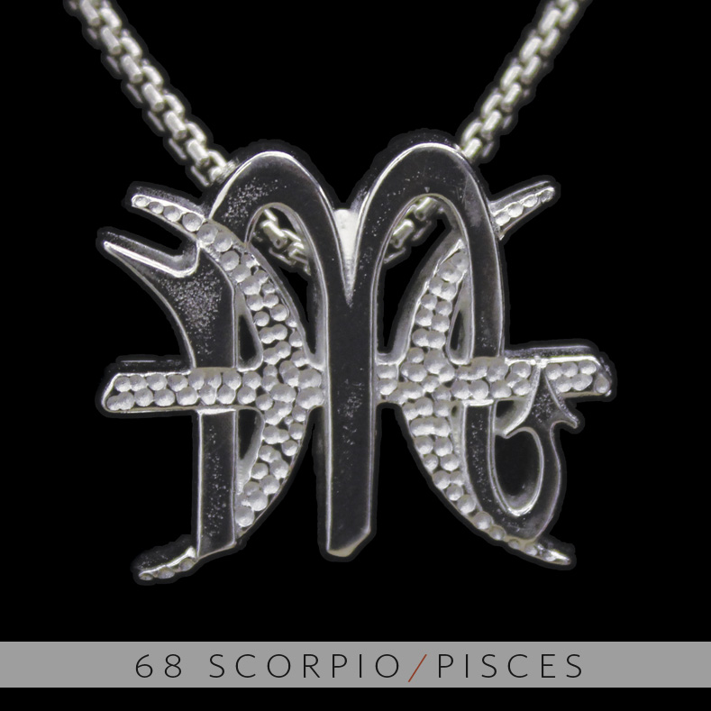 The scorpio and pisces silver unity pendant on storenvy the scorpio and pisces silver unity pendant mozeypictures Images