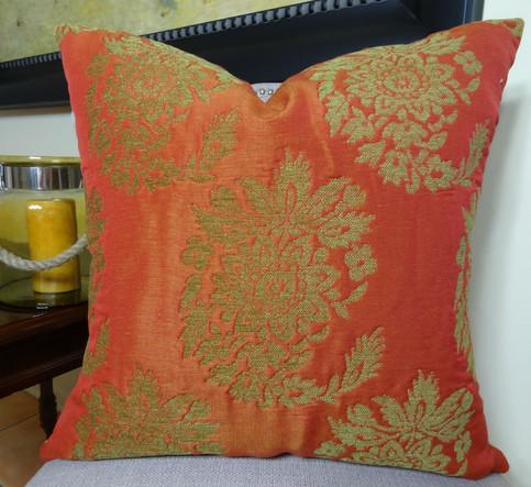 22 Quot X 22 Quot Designer Orange Decorative Throw Pillow Cover