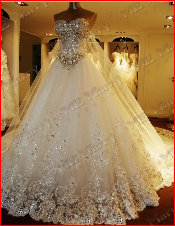 YZ 2013 New Arrival Gorgeous Luxurious Swarovski Crystals Bridal ...