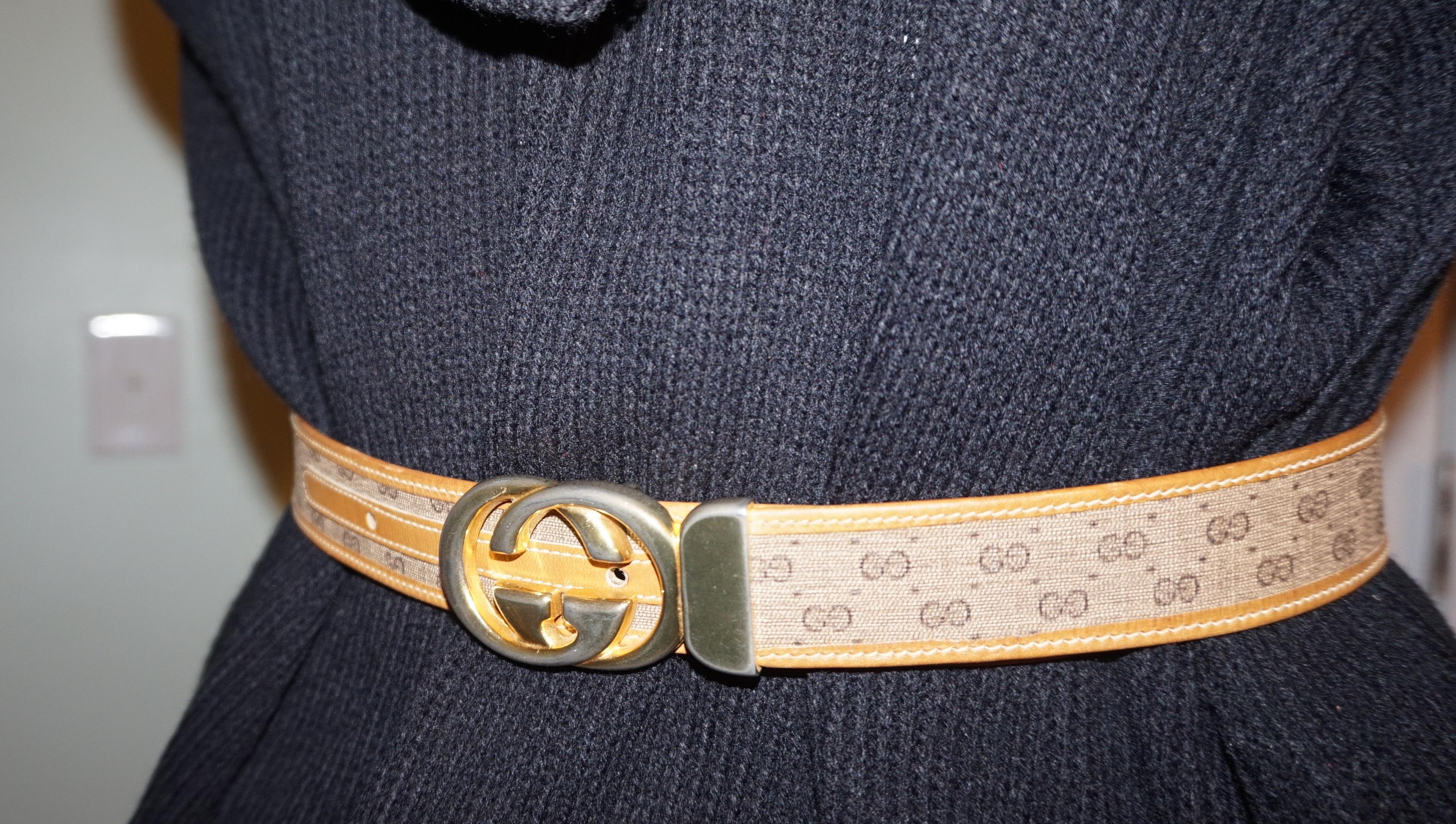 e0536fd23 Divaxpress Resale | Vintage Authentic Gucci Belt Size 28 or Small ...