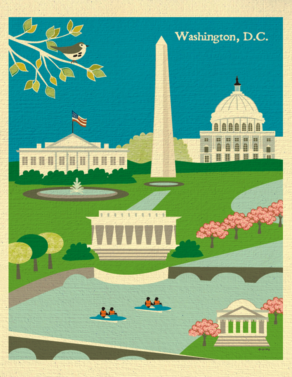 washington d c skyline poster capitol hill print for home office nursery rooms 11 x 14 style e11 o dc1 sold by loose petals on storenvy