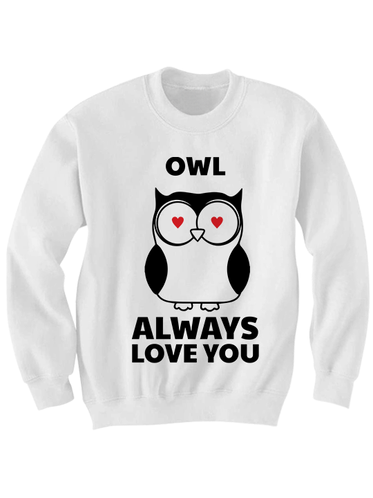 Owl Always Love You Sweatshirt Valentines Day Shirt Funny
