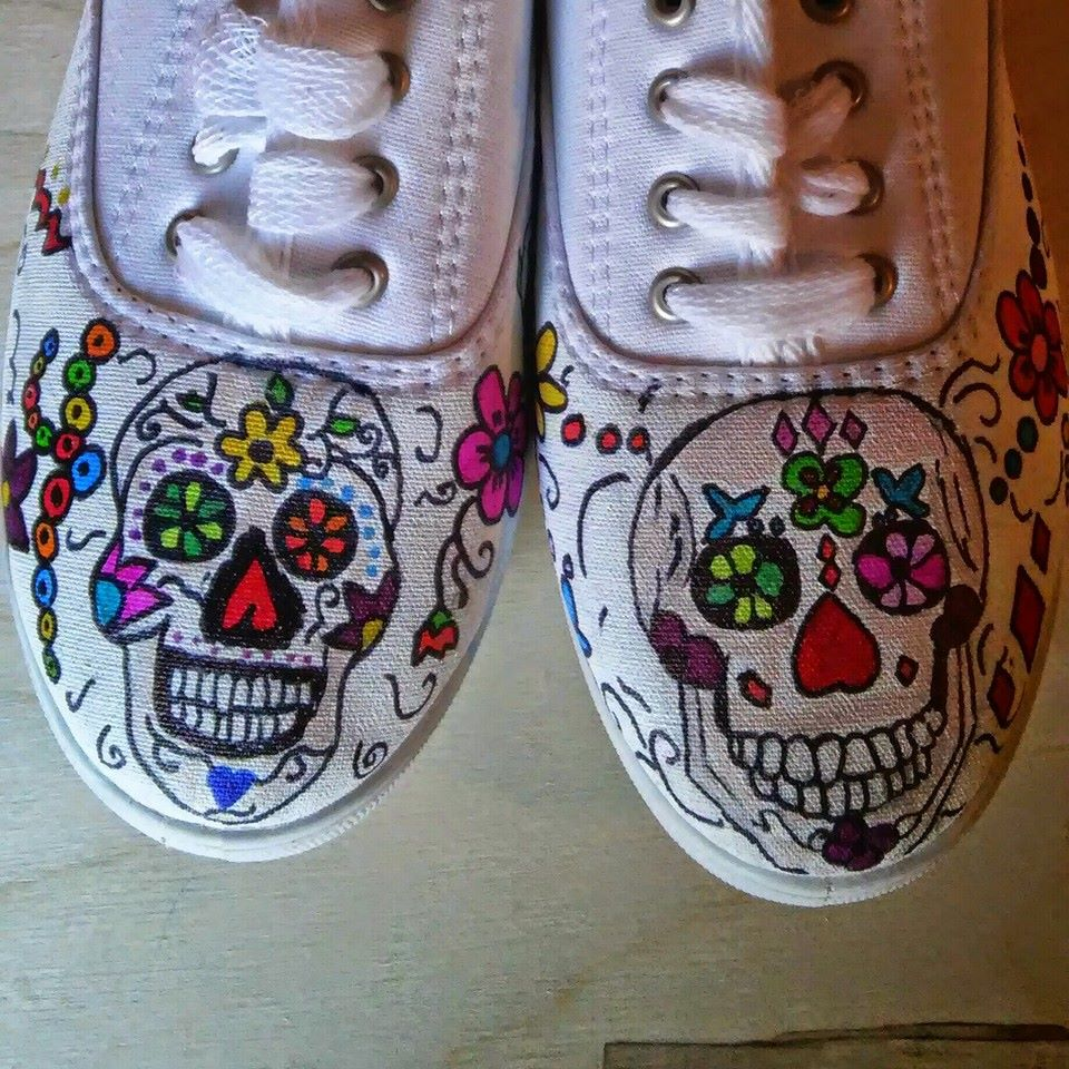 Sugar Skulls hand painted shoes · Heart and Soles · Online ...