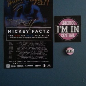 The Red or Blue Pill Tour Flyer (Autographed) & Sticker/Button Bundle from  UnderDogCentral Merch Store