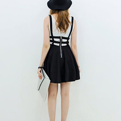 81bbb6396c Cutout suspender dress