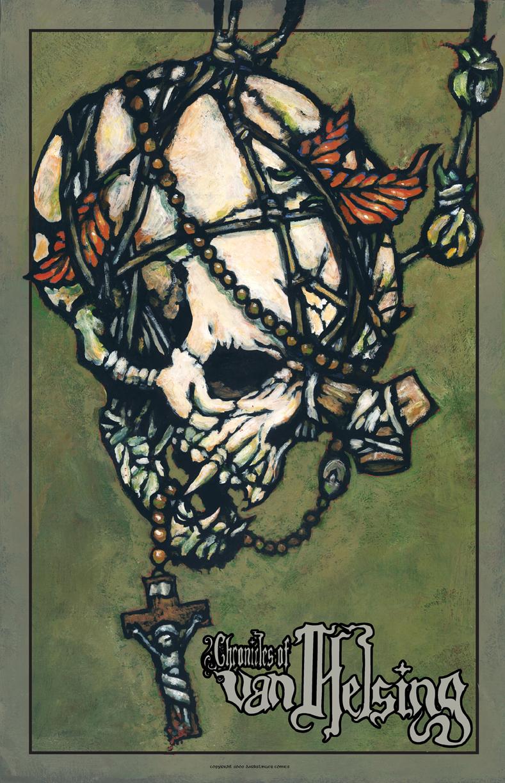 Storenvy coupon: Chronicles of Van Helsing Vampire Skull Poster by Tony Morgan