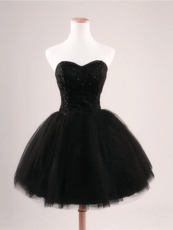 167f1be1923 Fashion Black Sweetheart Short Mini Homecoming Dress