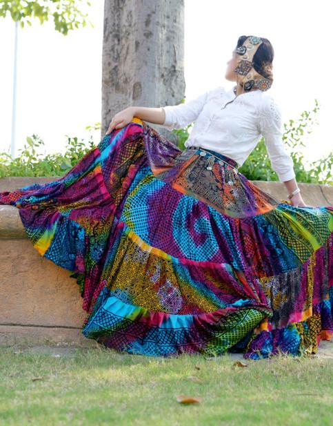 New Ats 25 Yard Multi Color Rainbow Gypsy Skirt On Storenvy