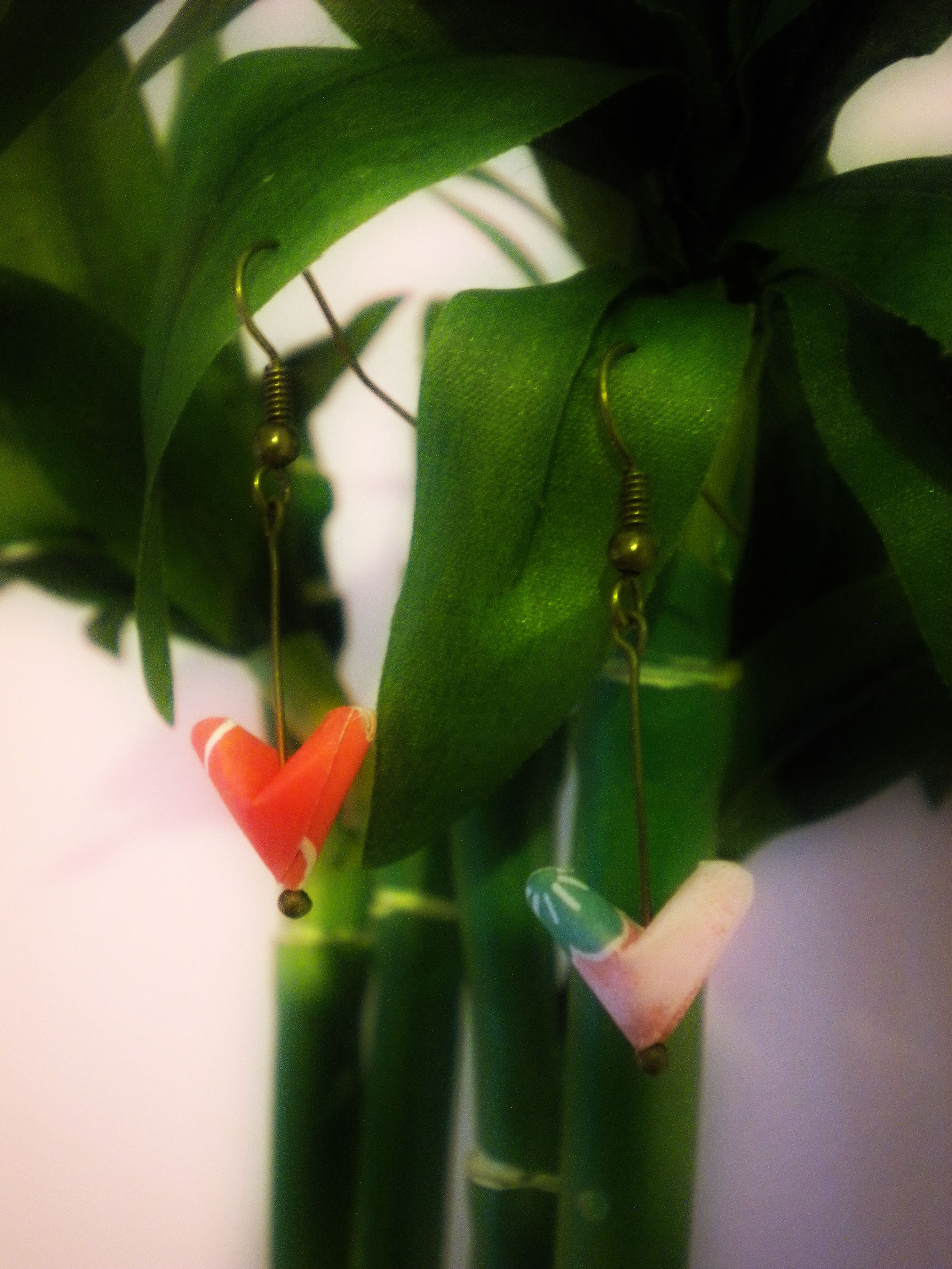 Origami Paper Hearts Earrings - Lucky Hearts - Japanese ... - photo#19