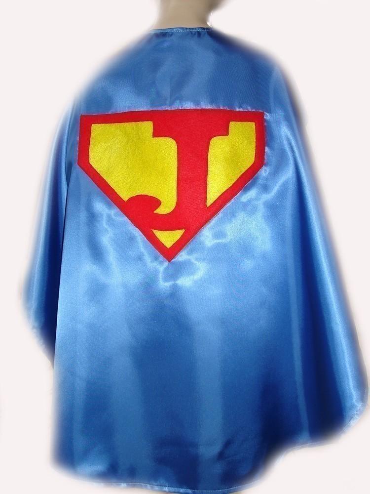Children's Custom Made Handmade Superhero Personalized Initial Kids Cape  from Magical Attic