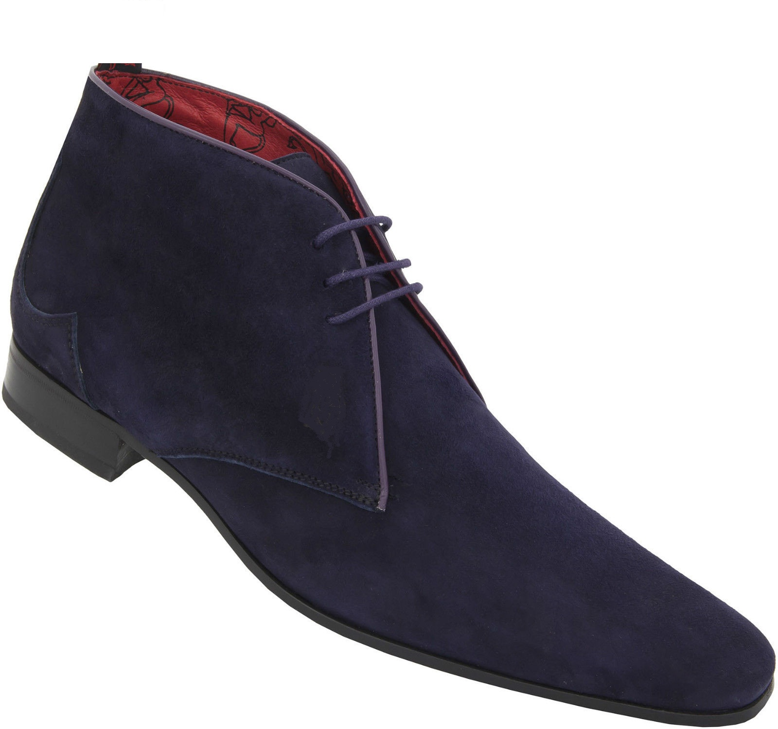 f02820ec4 MEN HANDMADE BLUE SUEDE BOOT, MEN ANKLE-HIGH BLUE DRESS AND CASUAL SUEDE  BOOTS
