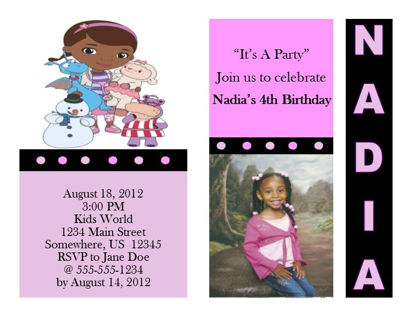 Doc McStuffins Birthday Invitation 1