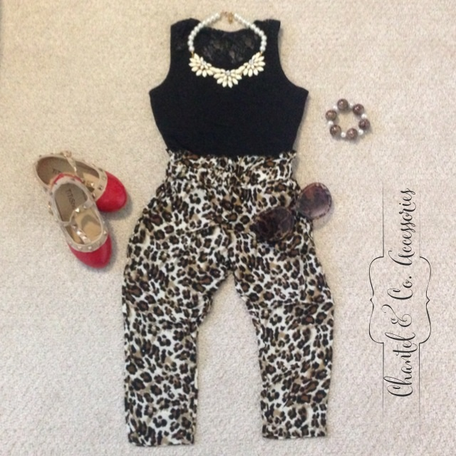 Leopard Harem Pants w/ Pockets