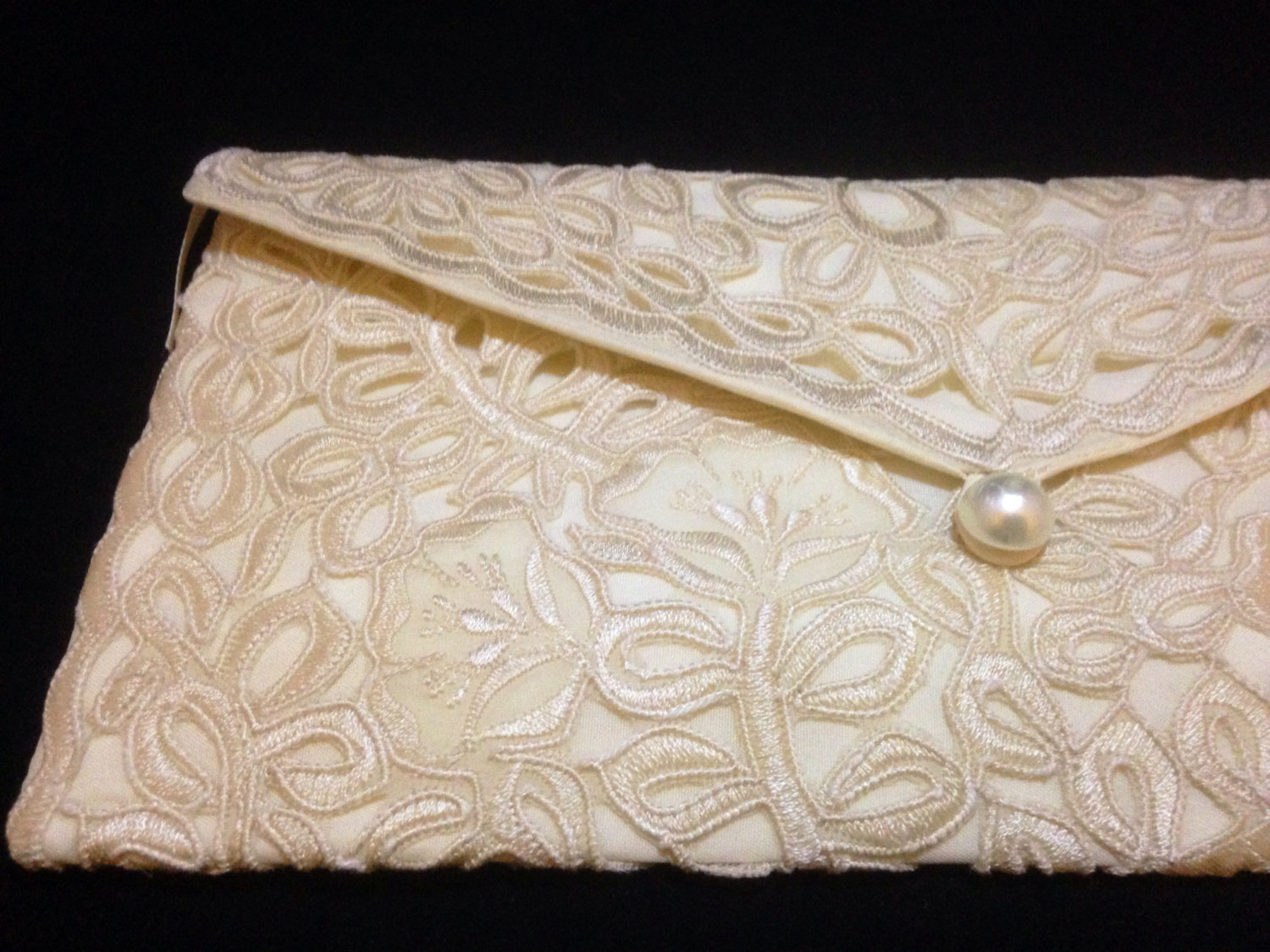 Champagne Lace Clutch Purse (with zipper)- Envelope Clutch Purse- Philippines Cutwork Embroidery Clutch- Bridal Clutch Purse- Wedding Clutch (28845032 ADARNA GALLERY) photo