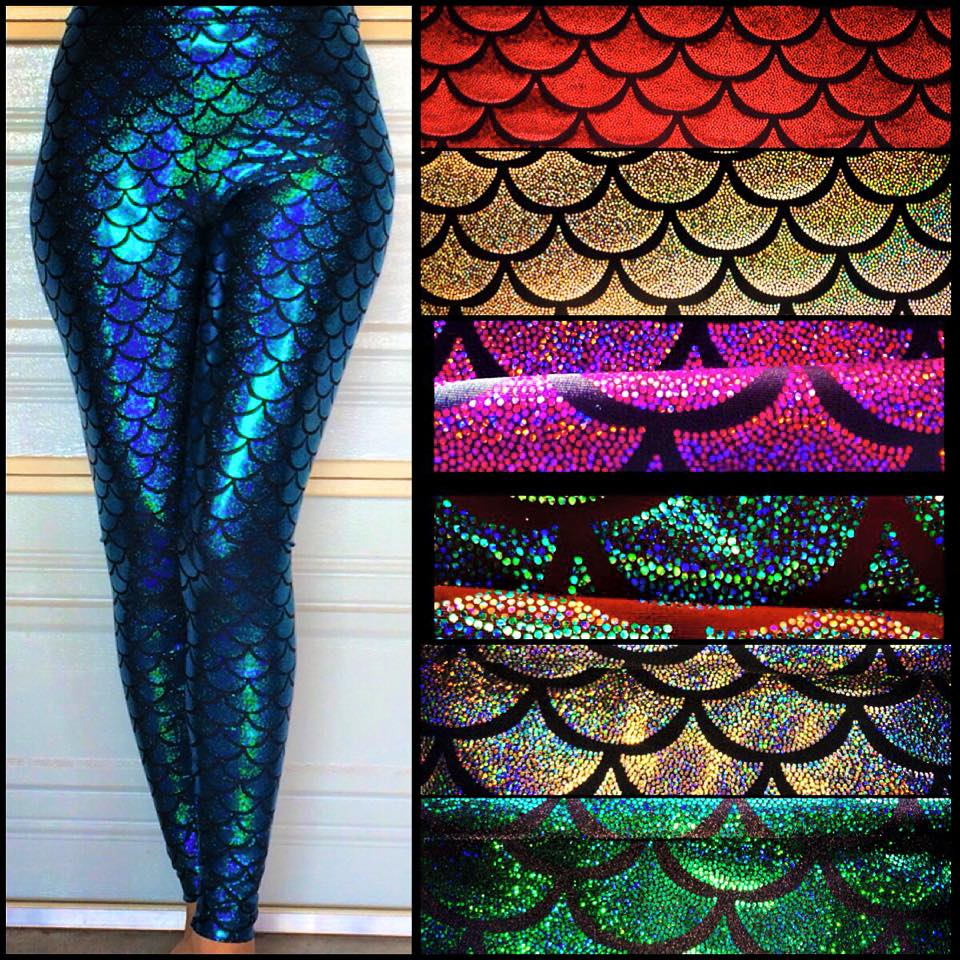 cb3ea94c1f3816 Mermaid print leggings · DAMEFATALE Clothing Designs · Online Store ...