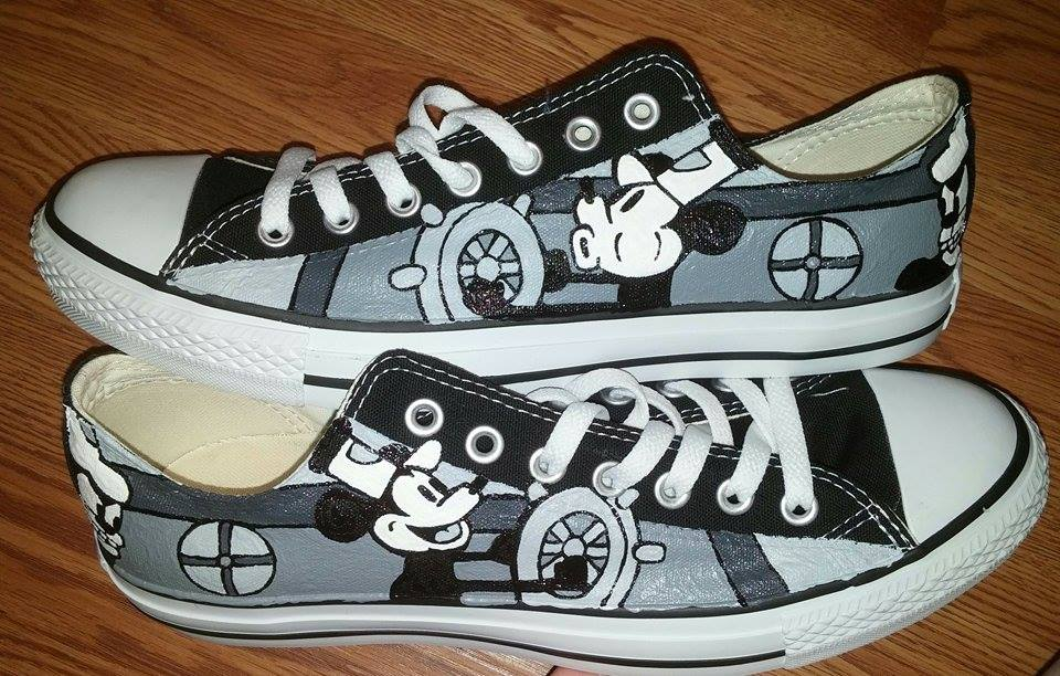 fe198f15b223 Steamboat Willie Hand Painted Custom Converse Shoes on Storenvy
