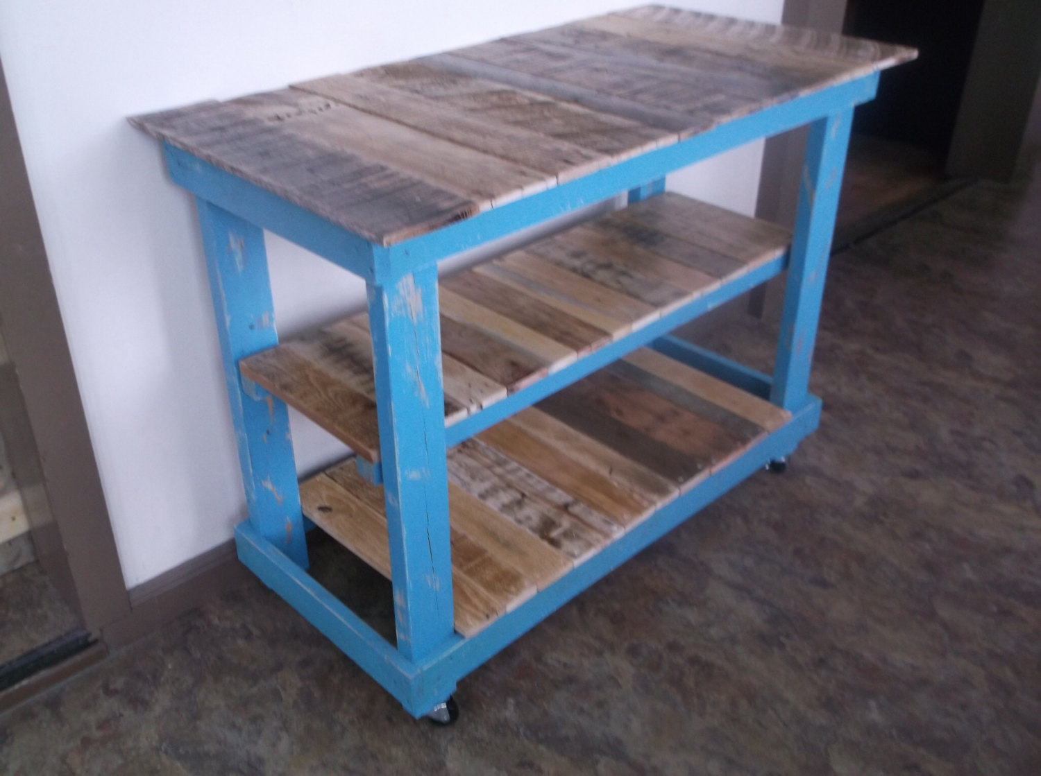 Country Cottage Pallet Kitchen Island on Storenvy