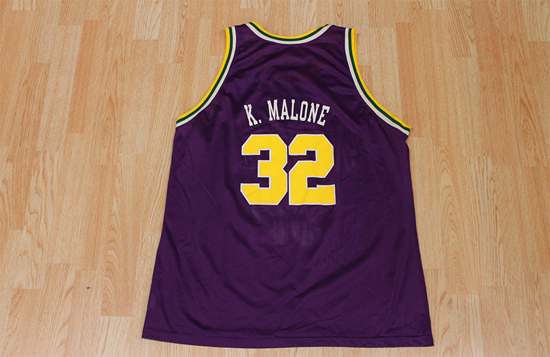 new style b25db 91e8f Karl Malone Jazz Jersey from SLAM! Vintage
