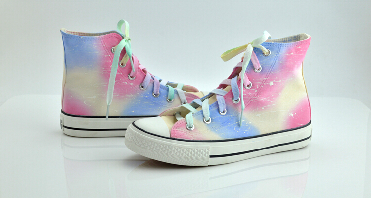 6e9333c5f24a Harajuku Gradient Galaxy Colorful Custom Painted Graffiti Canvas ...