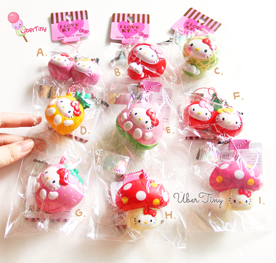 5269d4c1b Rare* Hello Kitty Scented Fruit Squishies (licensed) · Uber Tiny ...