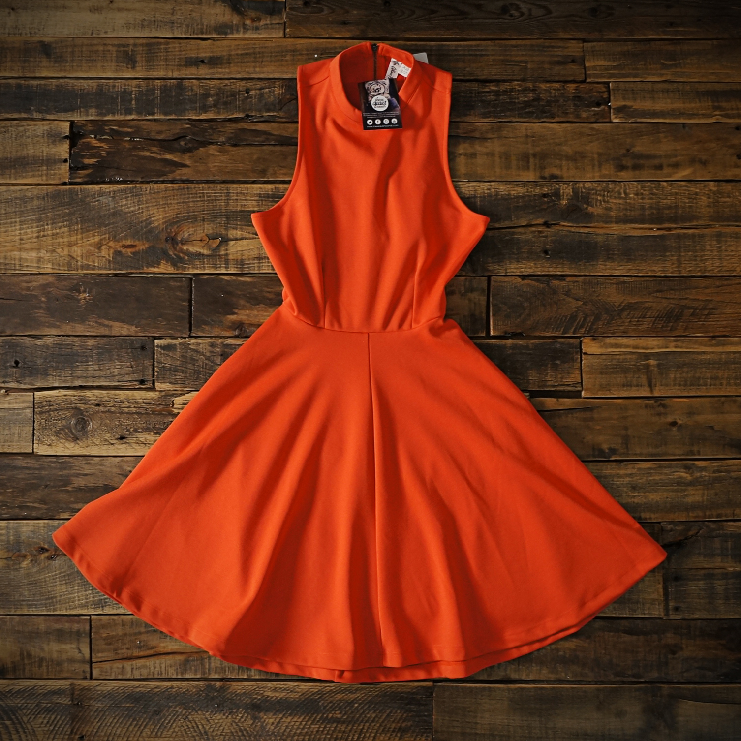 322be92faed Red-Orange Skater Destiny Dress by Others Follow · TQS · Online ...