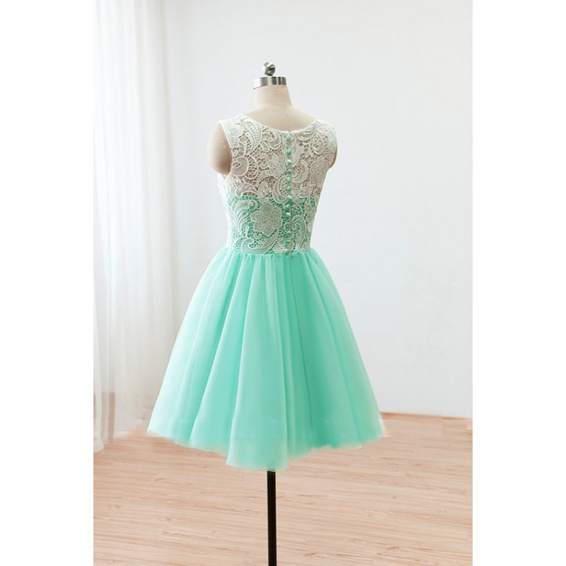 lace bridesmaid dresses, short bridesmaid dresses, mint bridesmaid ...