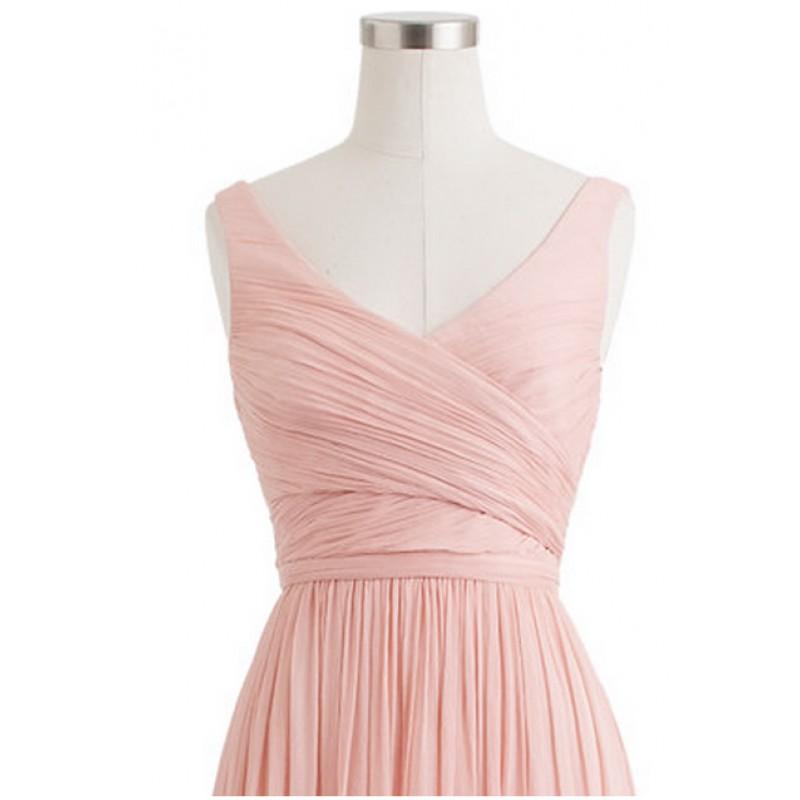 Blush pink bridesmaid dresses, cheap bridesmaid dresses, chiffon ...