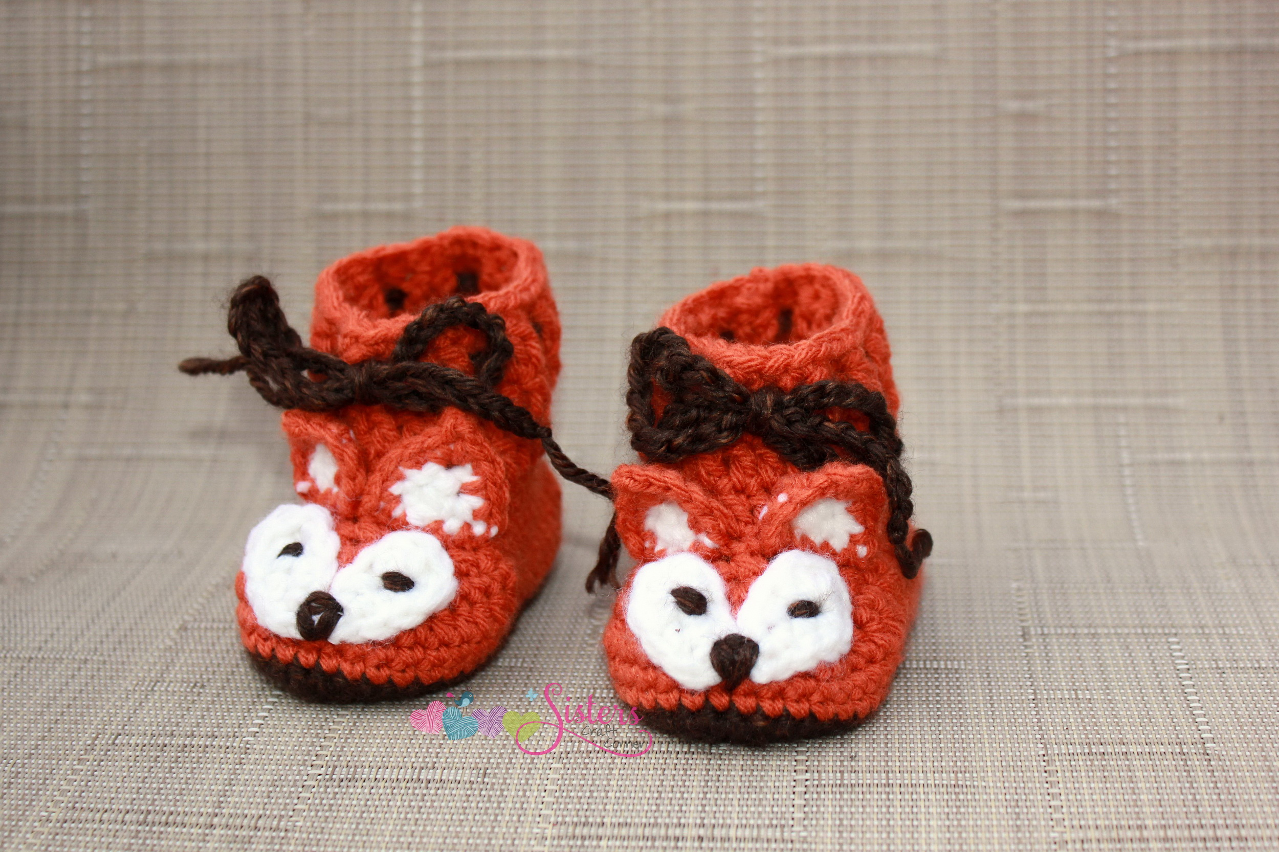 ba5575b0c48f6 Baby Fox Booties, Crochet Baby Boots Baby Booties, Crochet Boots, Baby,  Baby Shower Gift, Orange, Brown, White