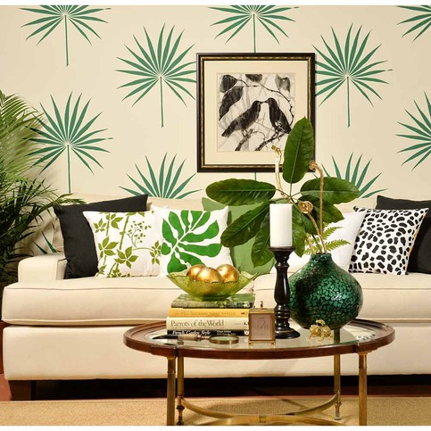 Palmetto Leaf Wall Art Stencil Better Than Decals By Cutting Edge Stencils On Storenvy