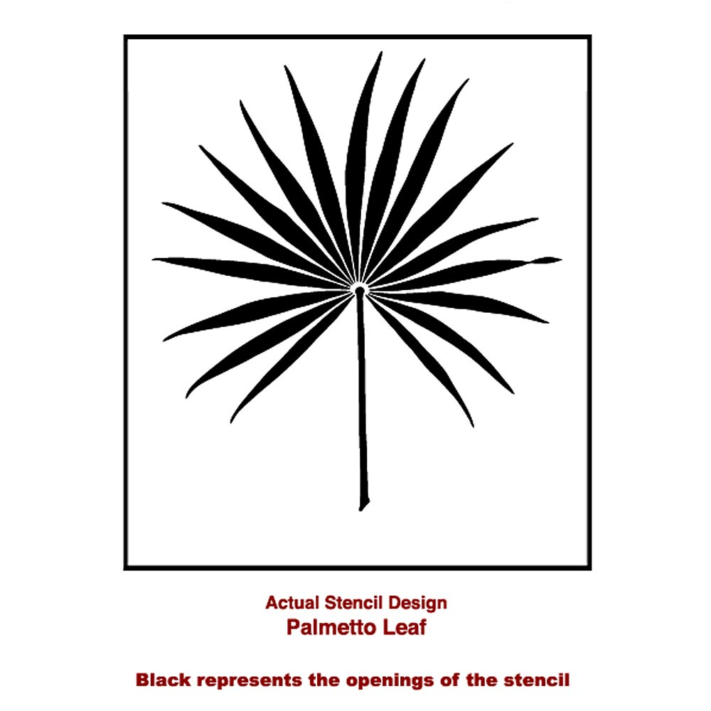 Palmetto Leaf Wall Art Stencil Better Than Decals By
