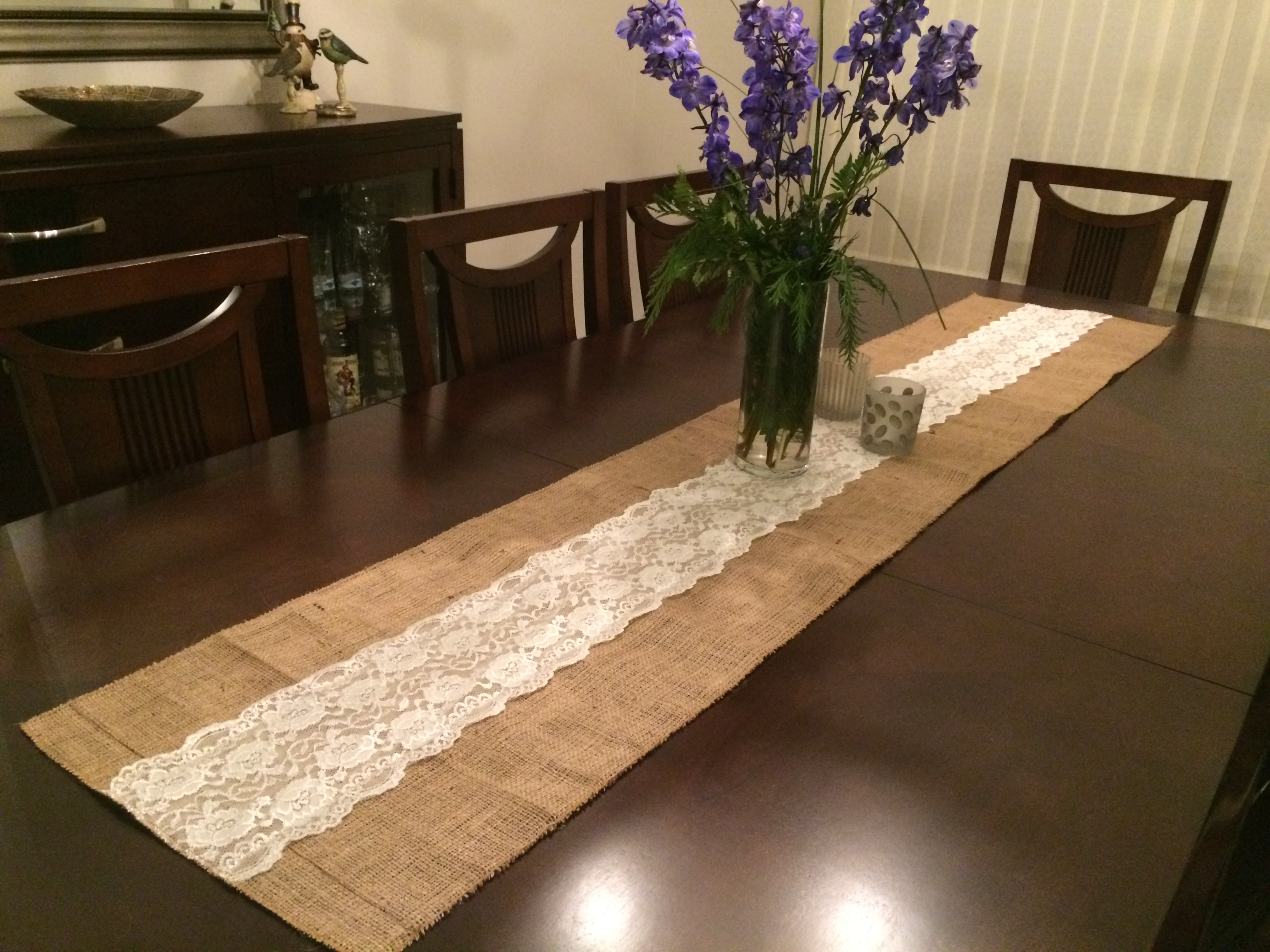 Burlap And Lace Table Runner 72 Inches Long Free Shipping Sold By Turkish Peshtemal Towels On Storenvy