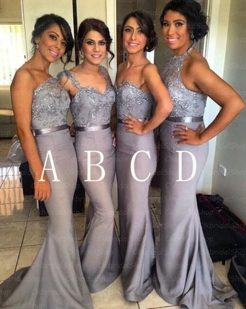 Silver Grey Bridesmaid Dresses