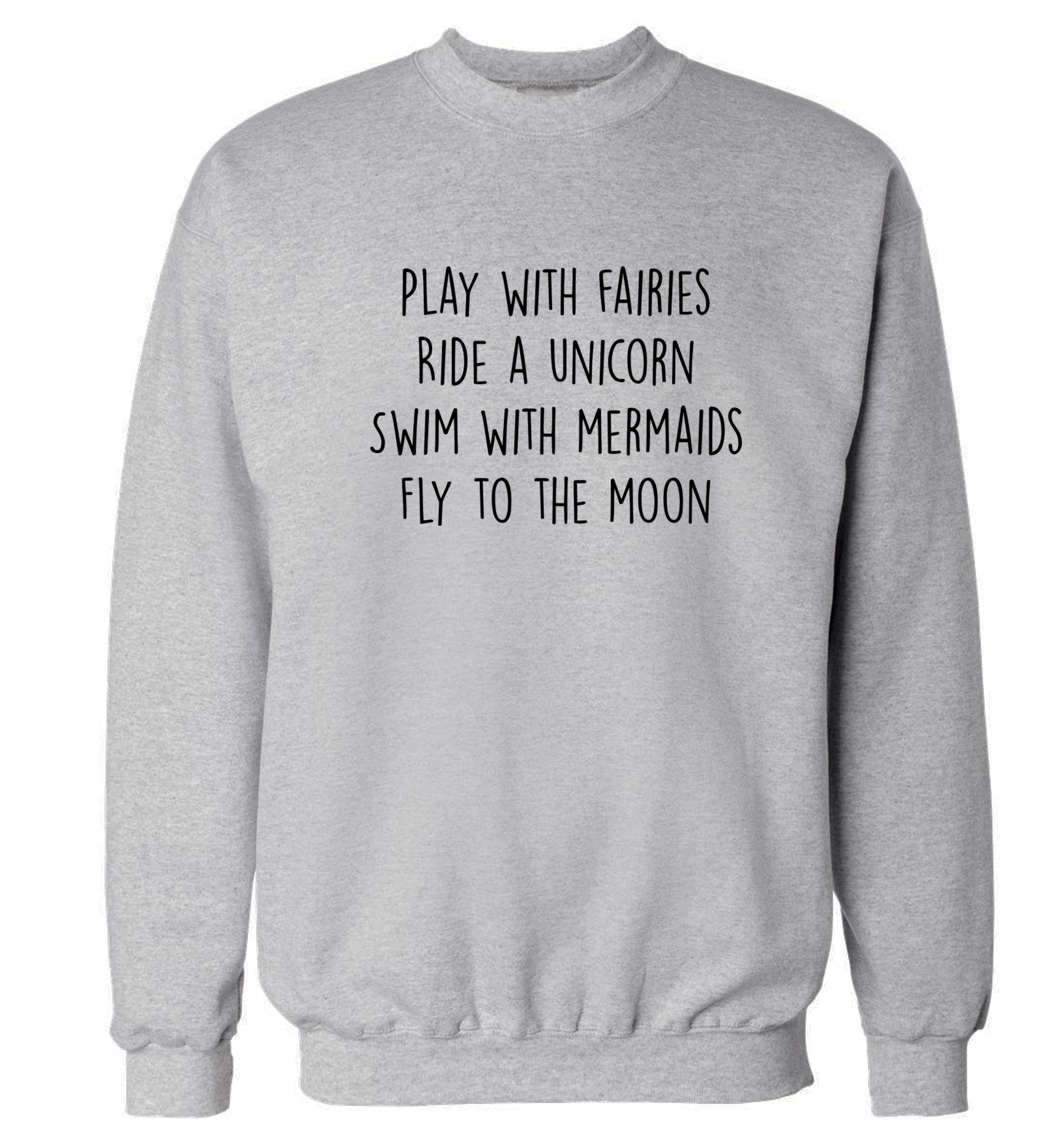 Customer Favorite Play With Fairies Ride A Unicorn Swim Mermaids Fly To The Moon Jumper Sweatshirt Fantasy Tumblr Instagram Hipster Pullover Xs 3xl 105 Accuweather Shop