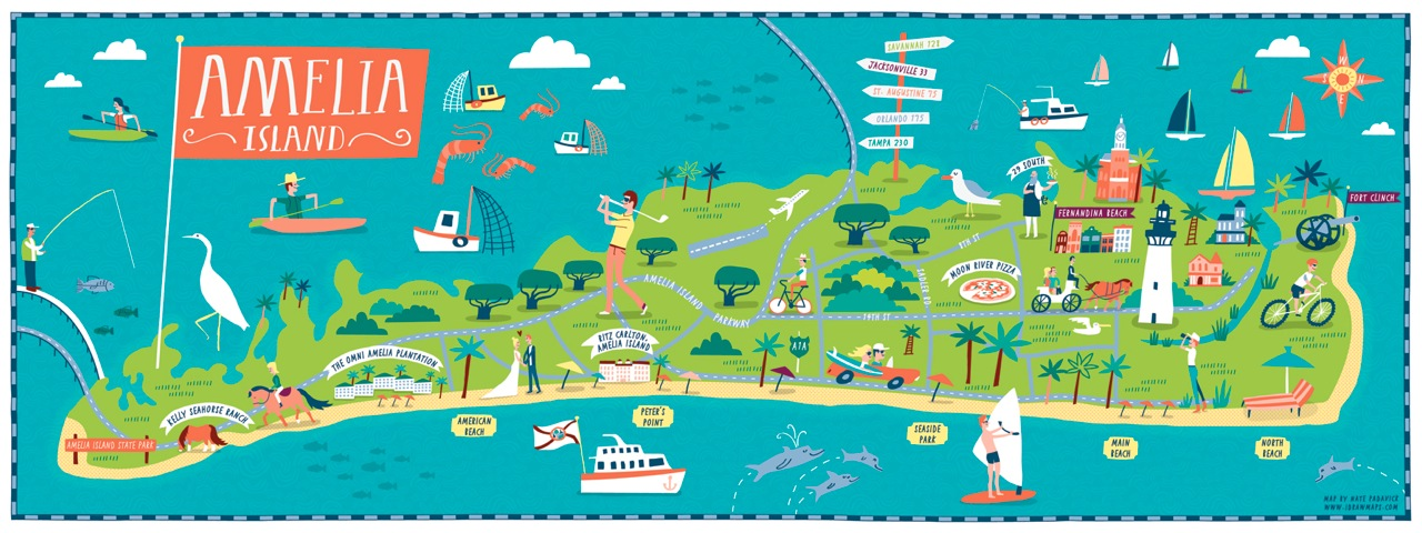 Amelia Island Illustration On Storenvy