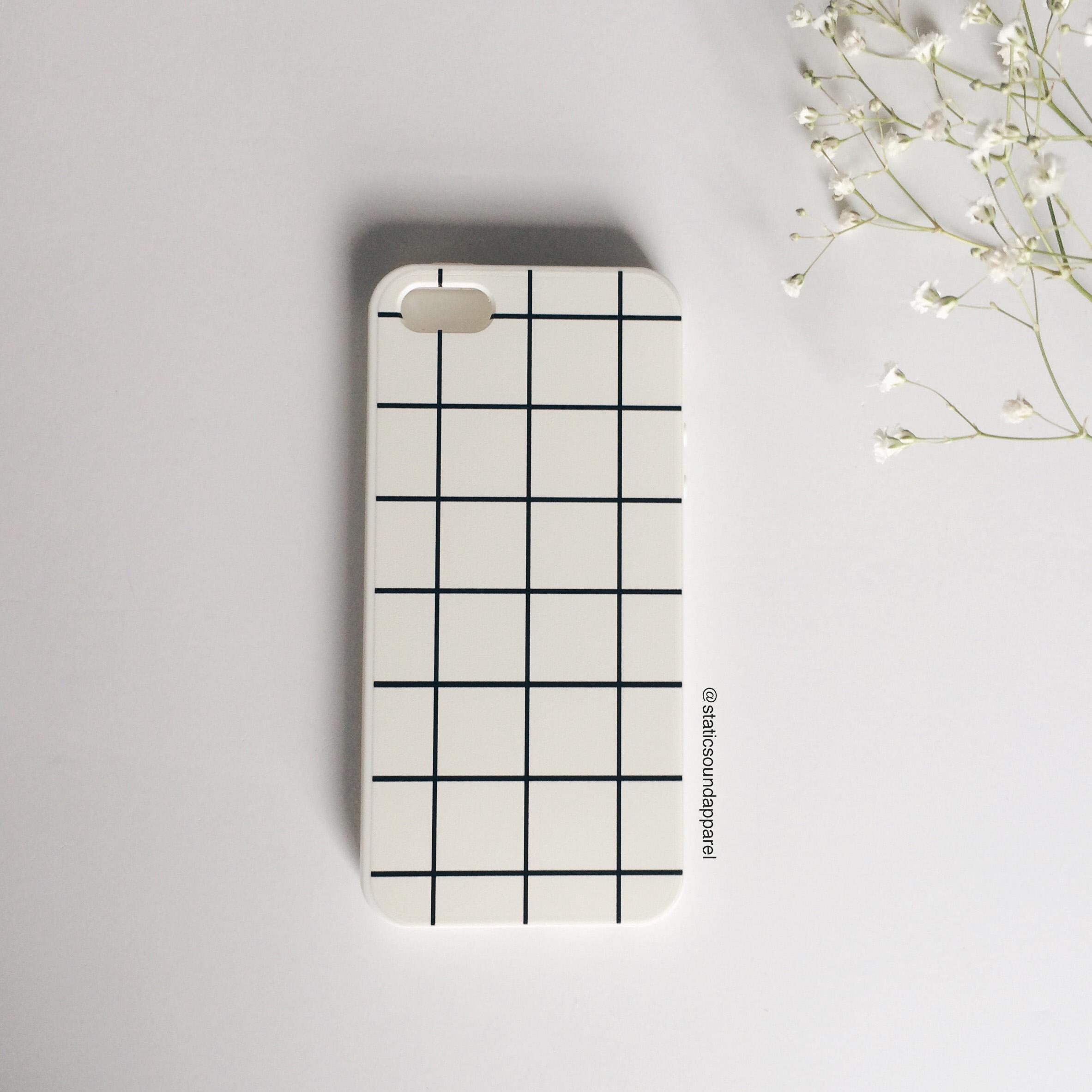 new product f9b47 c06f1 White Grid Phone Case