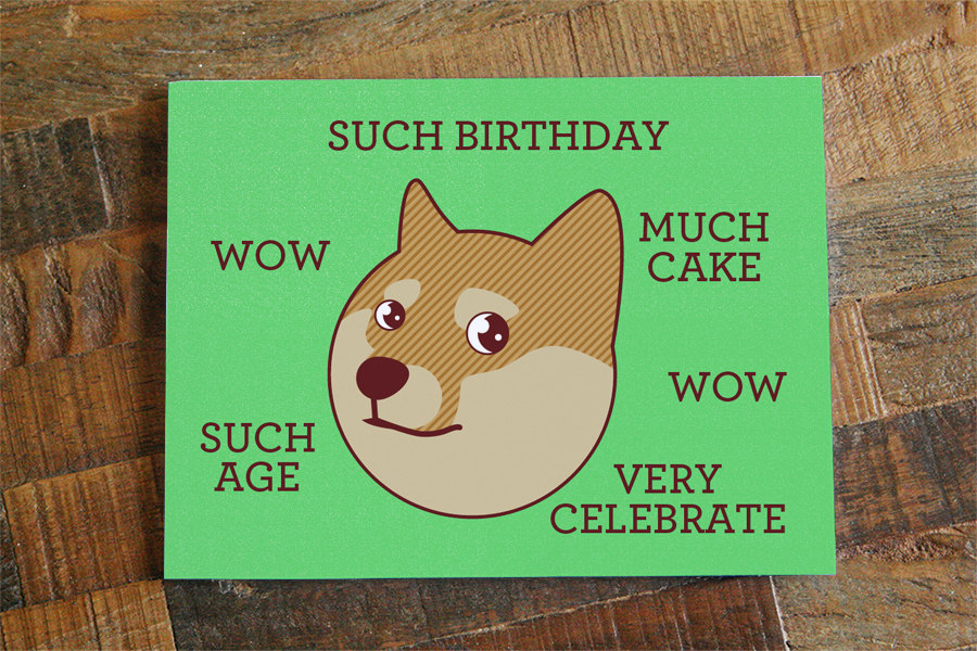 Funny birthday card doge such birthday internet meme humor il fullxfull647191639 6aat original m4hsunfo