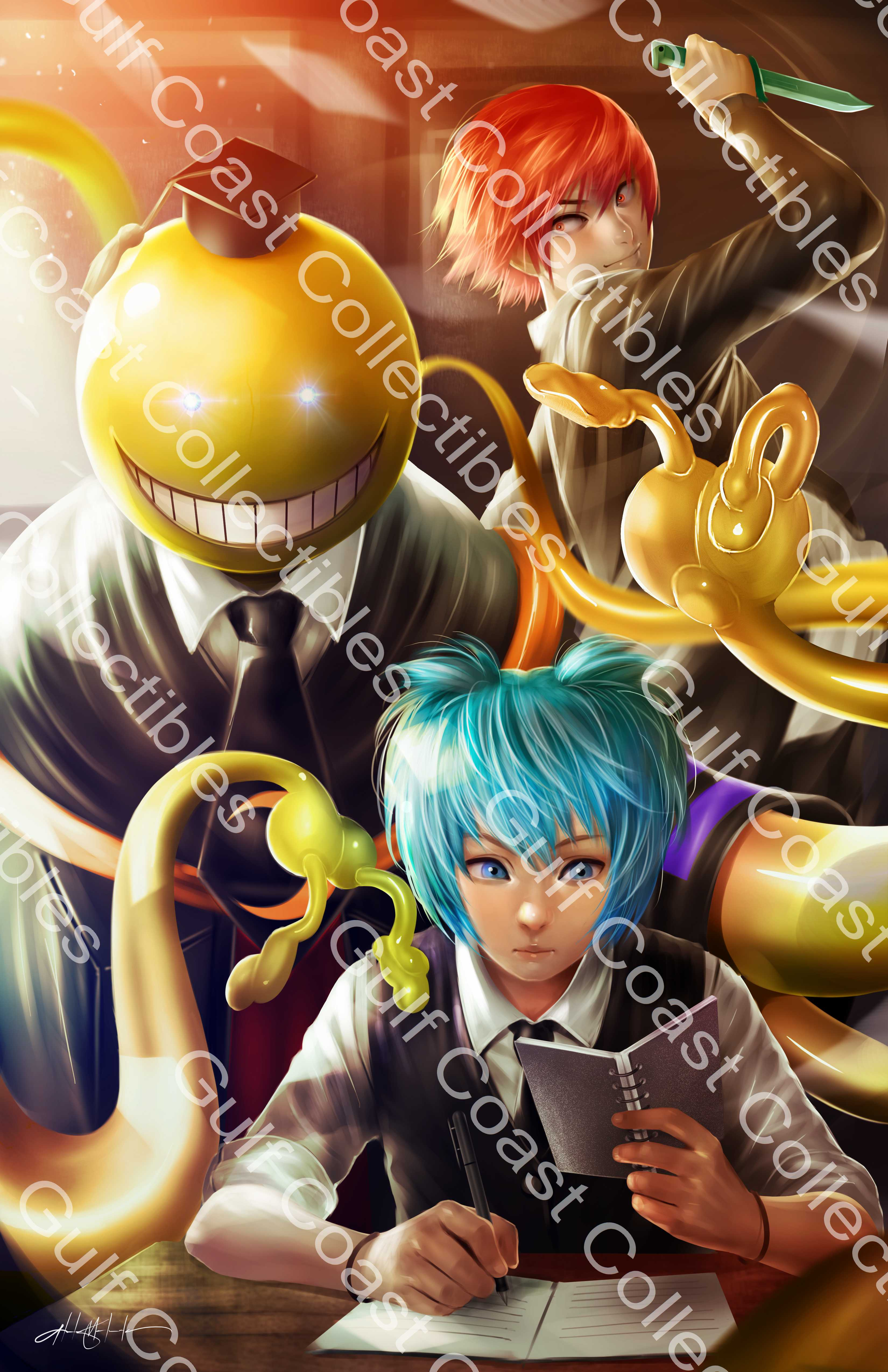 Exclusive Assassination Classroom Korosensei Nagisa Karma Commissioned Art 11 X 17 Print Sold By Gulf Coast Collectibles On Storenvy