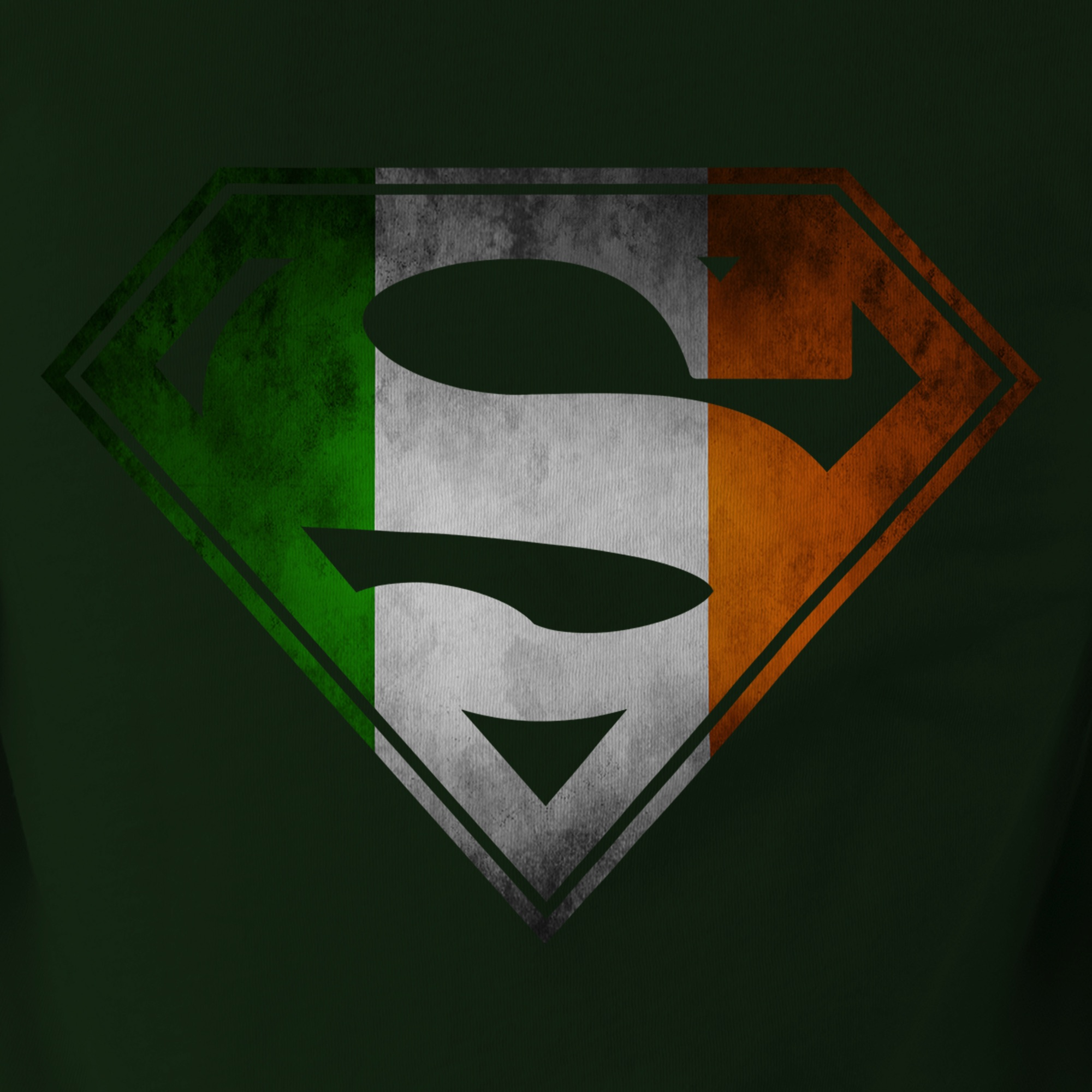 Adult Ireland Flag in Superman Shield T-shirt tee • Irish DC Comics ...