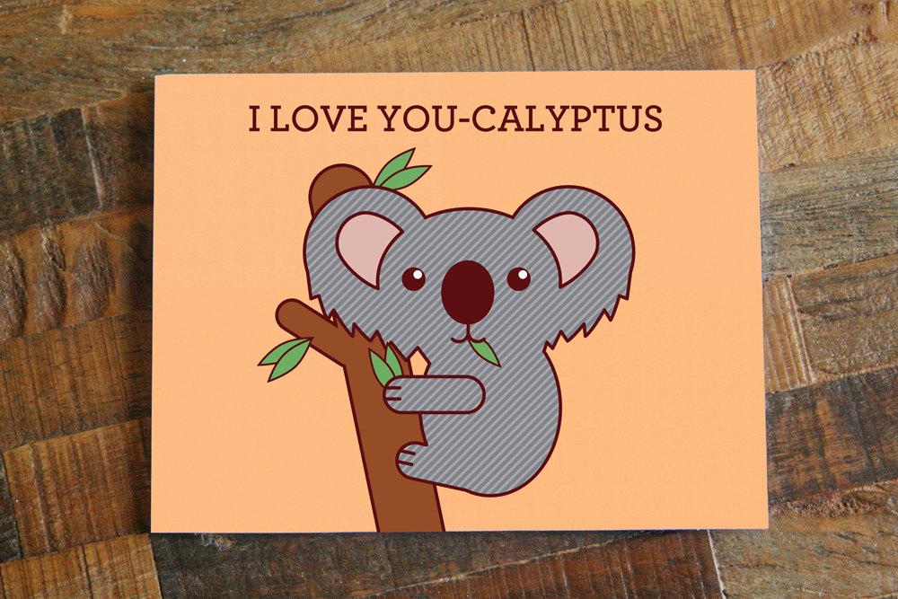 I love you calyptus card cute koala animal pun card funny card i il fullxfull616503857 m71d original m4hsunfo
