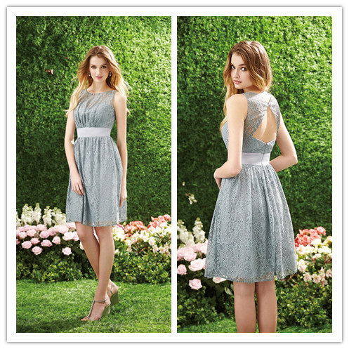 Lace Bridesmaid Dress Short Skirts Junior Cheap Prom