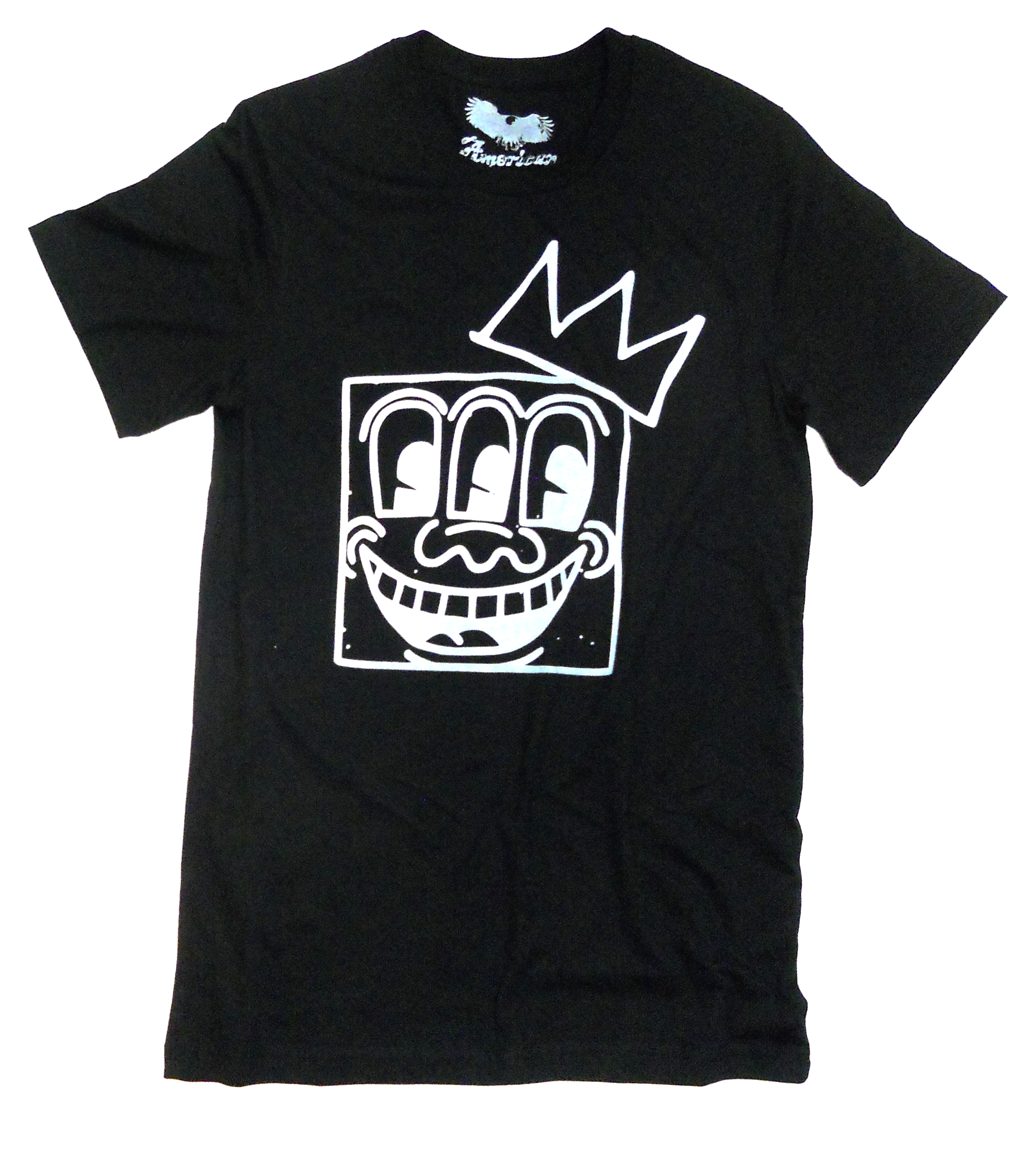 keith haring basquiat t shirt 39 king of ny 39 blk by. Black Bedroom Furniture Sets. Home Design Ideas