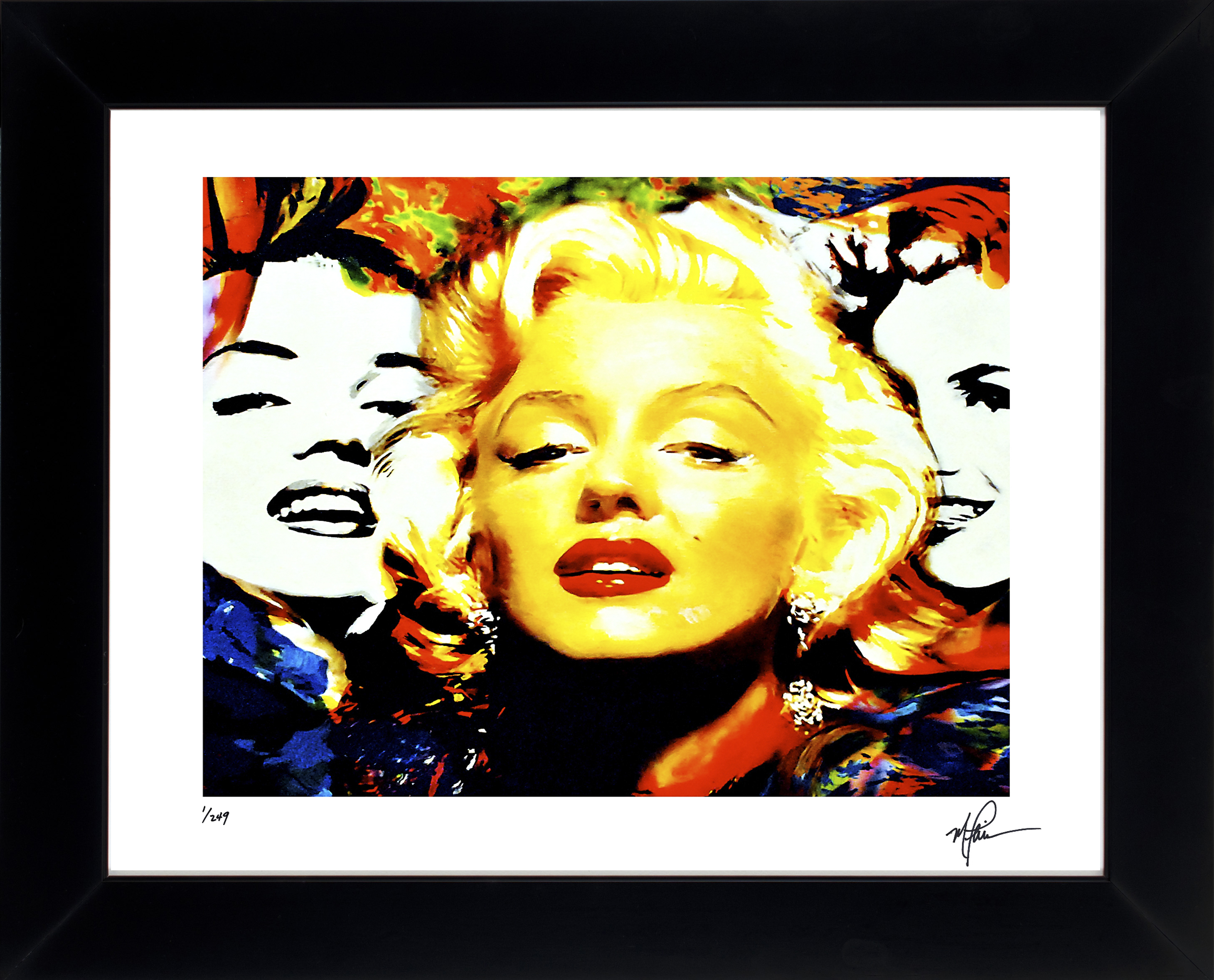 MARILYN MONROE - TRIPLE MARILYN - LIMITED EDITION PRINT HAND SIGNED ...