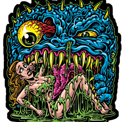 Sweet tooth full color shaped vinyl sticker · jimbo phillips webstore · online store powered by storenvy