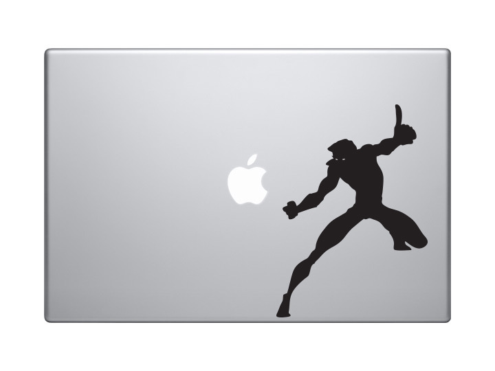 Car Tablet Vinyl Decal Super Hero Silhouette Power Version 1 Comic Book Style