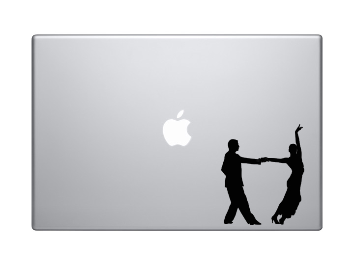 Tango Latin Salsa Samba Dance - Couple Pair Version 4 - Vinyl Decal For  Laptops, Macbook, Tablets and Cars from Applicable Pun