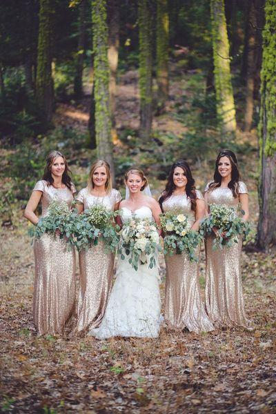 Long Bridesmaid Dress Nude Gold Bridesmaid Dresses Glittery
