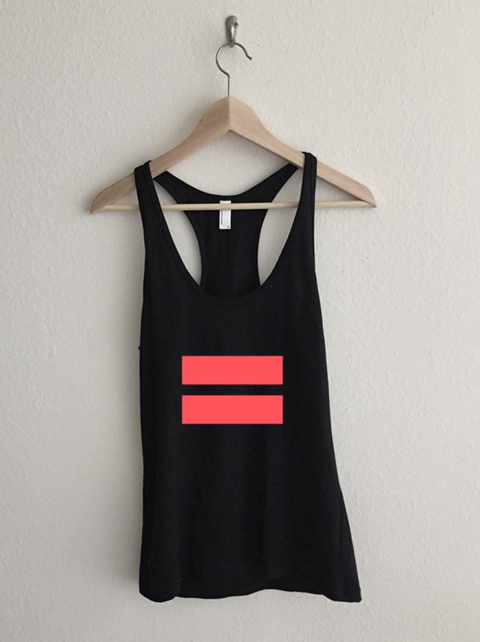 Infrared Marriage Equality Symbol Racerback Tank Top Rexlambo