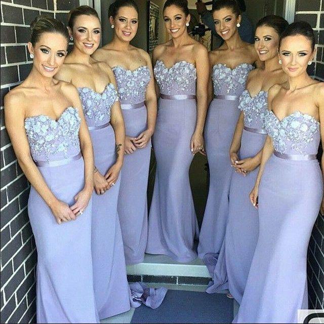 long bridesmaid dresses, lilac bridesmaid dresses, lace bridesmaid ...